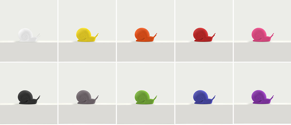 sporo bookmark studio macura 3D printed snail colors