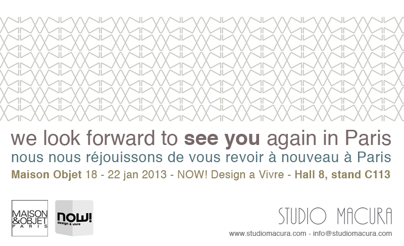 Maison Object Paris exhibition announcement