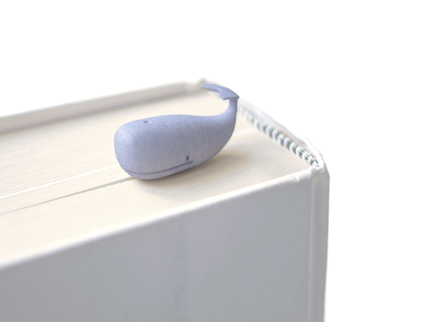 3D printed whale bookmark, bookmark, colourful bookmark