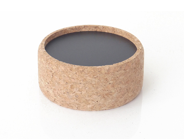 Vino cork wine bottle design accessory with a plastic black insert