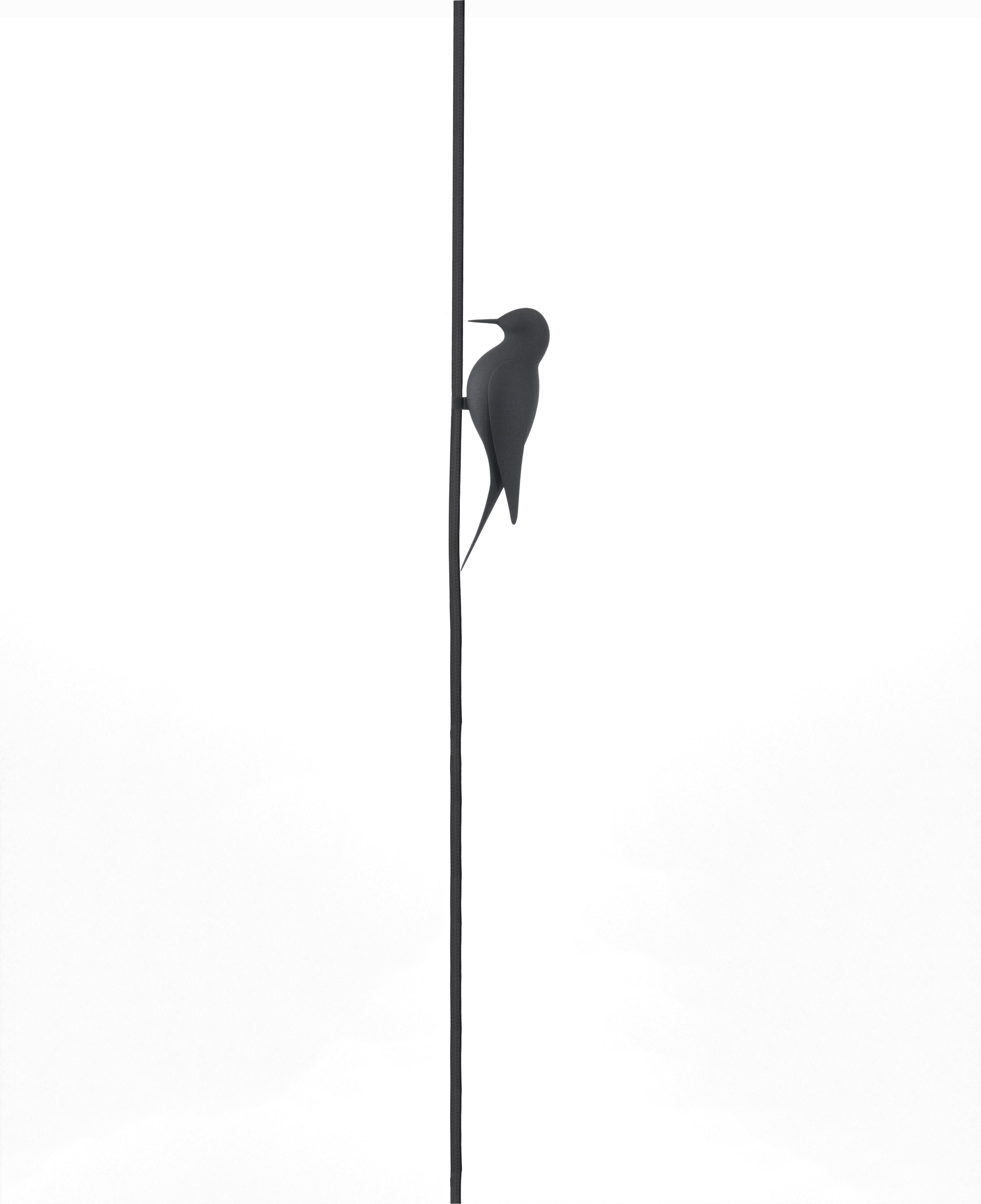 clip 3D black bird cable decoration